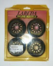 Labeda Inline Wheels Vintage Rollerblade Race Track Racing 76mm Set of 4 New USA