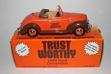 Liberty Classics Coin Bank, Trust Worthy Hardware, 1940 Ford Convertible Diecast