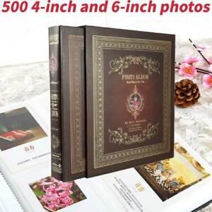 "Photo Album 4x6"" 500Photos Organizer Wedding Baby Family Pictures Memory Storage"