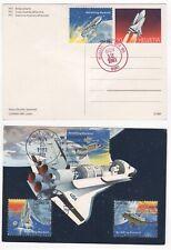 1981 USA & SWITZERLAND Space Cover COLOMBIA SHUTTLE Houston Kennedy Edwards CXL