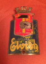 1950s Vintage ELVISH French VELO Ancien HEAD BADGE Fontan Wolber TOUR DE FRANCE