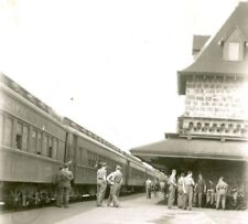 Canadian Soldiers at Railway Station, McAdam, New Brunswick, WW2, Original Photo