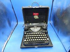 Antique 1920's Underwood typewriter Standard Portable 4 Bank Keyboard W/ Case