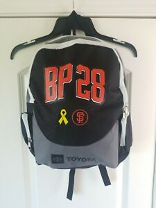 Buster Posey 28 San Francisco Giants Toyota Print Signed Caped School Back Pack
