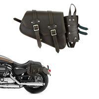 Motorcycle Saddle Bag Motorbike Brown Leather Saddle Bag Pannier Waterproof UK