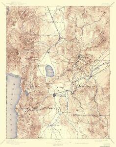 Topo Map - Carson Nevada Sheet - USGS 1893 - 23 x 29.15