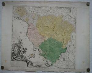 IL GRANDUCATO DI TOSCANA antica carta geografica 57x60, Firenze, Pagani, 1773