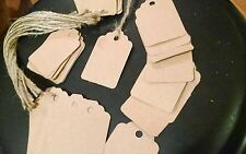 50 Brown scallop top acid free card stock price tags gift tags furniture tags