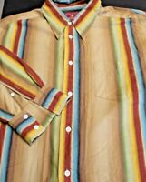 Luck Brand Men's Size XL Long Sleeve Button Front Striped Shirt Great Colors
