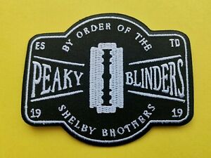 Peaky Blinders Patch Sew On / Iron On Badge By Order Of The Shelby Brothers