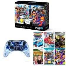 Nintendo Wii U System 6 Games SUPER SMASH BROS & SPLATOON +SONIC + Remote + More