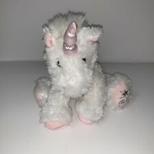 Russ Berrie Shining Stars Unicorn White Sparkly Pink Bow Horn 2006 No Code
