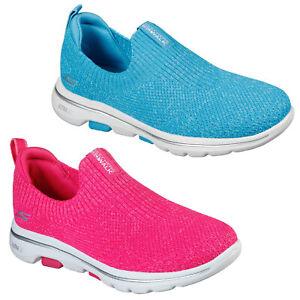 Skechers Womens GoWalk 5 Trainers Trendy Sports Running Training Walking Shoes