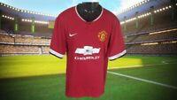 Manchester United 2014-2015 Home Football Shirt Nike Man Utd Chevrolet - 2XL