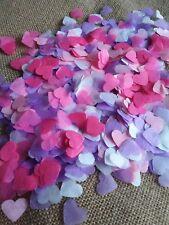 2500 confettis coeur blanc mauve rose clair/fushia Mariage Anniversaire Ballons