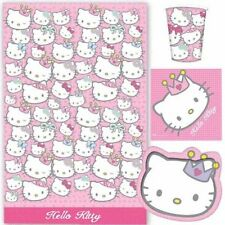 HELLO KITTY PRINCESS PARTY TABLEWARE SET 8 CUPS 8 PLATES TABLECOVER 16 NAPKINS