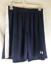 Under Armour Men's Classic Soccer Shorts Navy / White - Large