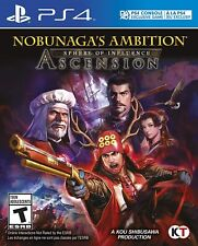 PLAYSTATION 4 PS4 VIDEO GAME NOBUNAGA'S AMBITION SPHERE OF INFLUENCE ASCENSION