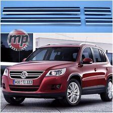 Volkswagen VW Tiguan Polished Steel Kick Plate Car Door Sill Protectors Set K75s