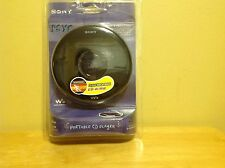 New Sealed Sony PSYC CD Walkman Portable CD Player - Black - (D-EJ010)