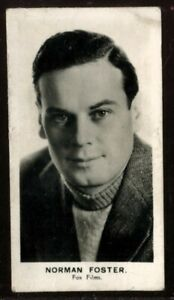 Tobacco Card, Walkers, FILM STARS, 1935, Norman Foster