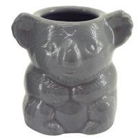 Koala Smooth White Planter Australian Native Animal Pot Plant Ornament Figurine