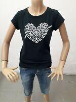 Maglia ADIDAS Donna T-shirt Woman Polo Femme Taglia Size S Cotone Blu 8546