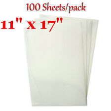 "100 Sheets* 11""x17"" Premium Waterproof Inkjet Transparency Film for Screen Print"