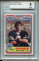 1984 Topps USFL Football #52 Steve Young Rookie Card XRC Graded BGS NM MINT 8