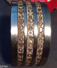 #6 STRIP BRACELET BANGLE 3 PATTERNS 16mm DESIGN ROLLING MILL SIDE ROLLER DURSTON