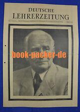 DEUTSCHE LEHRERZEITUNG 16.9.1960: Tod von Wilhelm Pieck