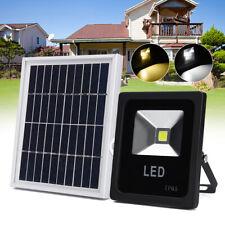 LED Solar Street Light Radar Motion Sensor Flood Spot Light Outdoor      W T