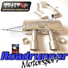 """GOLF MK6 R Milltek Scarico 3"""" RACE Sistema Cat Indietro Consonanza non rinunciando in titanio"""