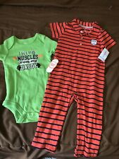 Nwt 2 Baby Boy Suits Size 18 M Green - Red
