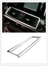Chrome Inner Middle Console Air Vent Outlet Frame Trim For BMW 5series 2011-2014