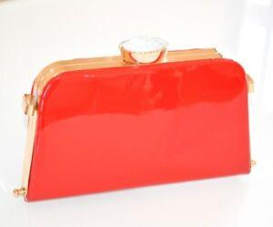 BOLSA  mujer rojo oro cristales cerimonia clutch elegante pochette de noche H25