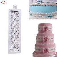 Lace Flower Silicone Fondant Mold Cake Border Decoration Sugarcraft Baking Mould