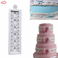 Lace Flower Silicone Fondant Mold Cake Border Decoration Sugarcraft Baking Mould