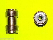 1 conector SO259 doble de 2 vías de radio RF Cable Adaptador de Tornillo Taxi CB Carpintero