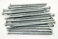 "(25) Galvanized Hex Head 1/2 x 10"" Lag Bolts Wood Screws"