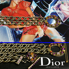 $1,120 CHRISTIAN DIOR Chain D BELT w/Price Tag