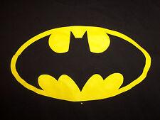 Batman Super Hero Comic Logo Black Graphic T Shirt - XL