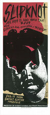 Slipknot Coheed And Cambria Trivium 2009 Rare Silkscreen Gig Poster S/N