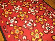Silk Embroidered Handmade Suzni Suzani Uzbek Uzbekistan Size 6'6''x12&# 039;