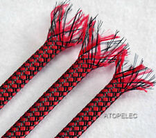 4MM Wide Braided Soft PP Cotton Yarn+PET Expandable Sleeving Cable Wire Sheath
