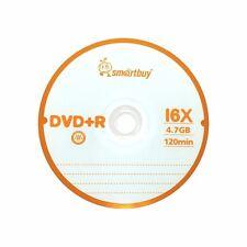 5 Pack Smartbuy DVD+R 16X 4.7GB Logo Top Blank Record Disc w/ 5 pcs paper sleeve