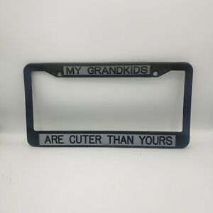 My Grandkids Are Cuter than Yours License Plate Frame Car Accessories Plastic