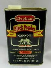 Rare Vintage Antique Elephant Black Powder Cannon Explosives Tin Can ~ Empty!