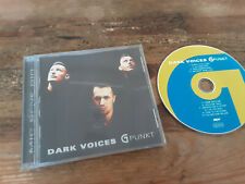 CD Indie Dark Voices - G Punkt (10 Song) SPV SYNTHETIC SYMPHONY jc