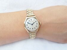 Vintage Art Deco Ladies 9ct Gold Rolex Precision Wristwatch Watch NO RESERVE.